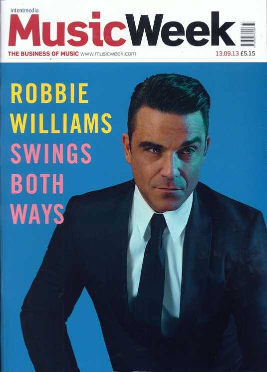 Robbie Williams portada de la revista Music Week
