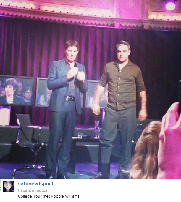 Foto de Robbie Williams hoy  en College Tour , Holanda