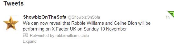 Rumor: Robbie Williams en X Factor UK